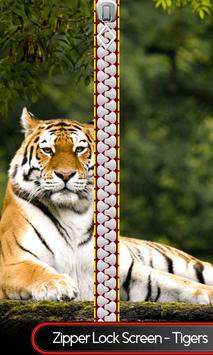 Zipper Lock Screen – Tigers poster