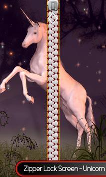Zipper Lock Screen – Unicorn poster