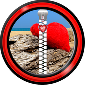 Zipper Lock Screen – Valentine icon