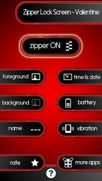 Zipper Lock Screen – Valentine screenshot 1