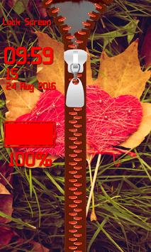 Zipper Lock Screen – Valentine screenshot 4