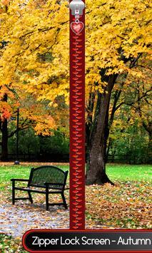 Zipper Lock Screen – Autumn poster