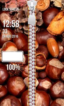 Zipper Lock Screen – Autumn screenshot 10