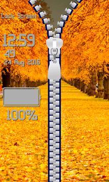 Zipper Lock Screen – Autumn screenshot 11