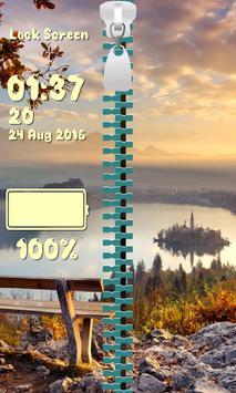Zipper Lock Screen – Autumn screenshot 12