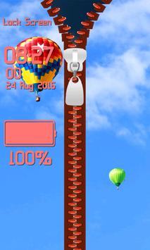 Zipper Lock Screen - Blue Sky screenshot 4