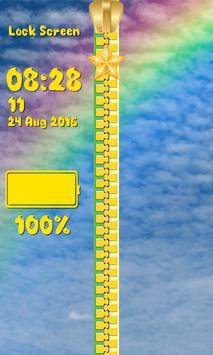 Zipper Lock Screen - Blue Sky screenshot 5