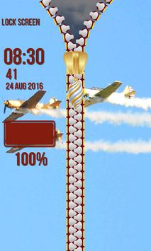 Zipper Lock Screen - Blue Sky screenshot 6