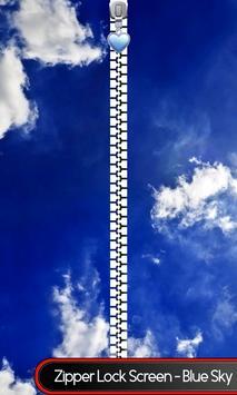 Zipper Lock Screen - Blue Sky poster