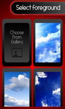 Zipper Lock Screen - Blue Sky screenshot 2
