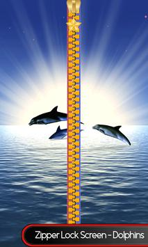 Zipper Lock Screen – Dolphins poster