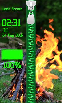Zipper Lock Screen – Fire screenshot 5