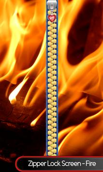 Zipper Lock Screen – Fire poster