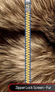 Zipper Lock Screen – Fur poster