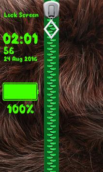 Zipper Lock Screen – Fur screenshot 10
