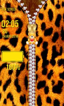 Zipper Lock Screen – Fur screenshot 13