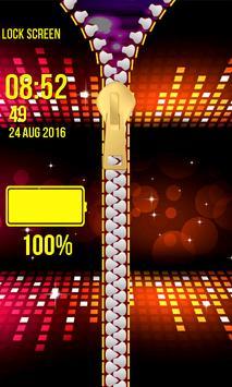 Zipper Lock Screen – Glitter screenshot 6