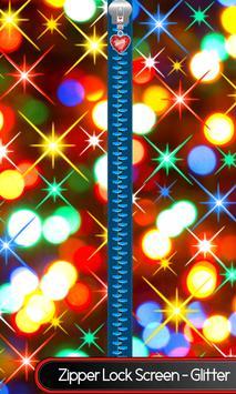 Zipper Lock Screen – Glitter poster