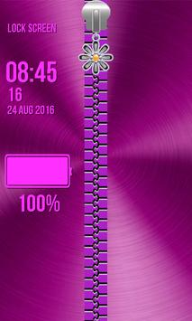 Zipper Lock Screen – Glitter screenshot 3