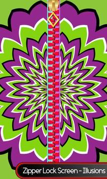 Zipper Lock Screen – Illusions poster