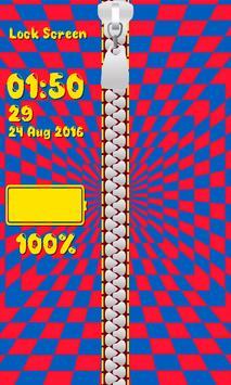 Zipper Lock Screen – Illusions screenshot 5