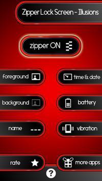 Zipper Lock Screen – Illusions screenshot 8