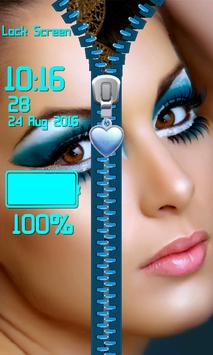 Zipper Lock Screen – Makeup screenshot 11