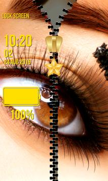 Zipper Lock Screen – Makeup screenshot 13