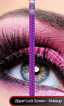 Zipper Lock Screen – Makeup screenshot 7