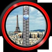 Zipper Lock Screen – Paris icon