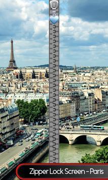 Zipper Lock Screen – Paris poster