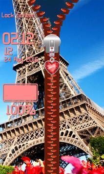 Zipper Lock Screen – Paris screenshot 6