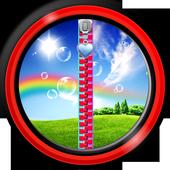 Zipper Lock Screen – Rainbow icon