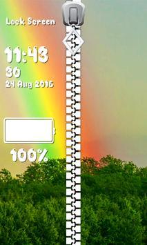 Zipper Lock Screen – Rainbow screenshot 5