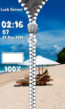 Zipper Lock Screen – Summer screenshot 4