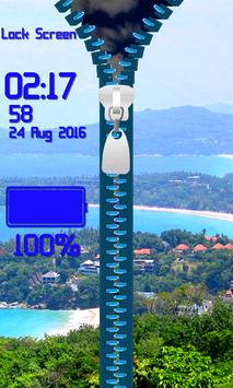 Zipper Lock Screen – Summer apk screenshot