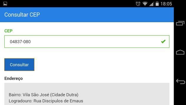 Consultar CEP apk screenshot