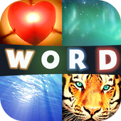 4Pics 1Word Challenging Levels icon