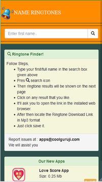 Personal Name Ringtone apk screenshot