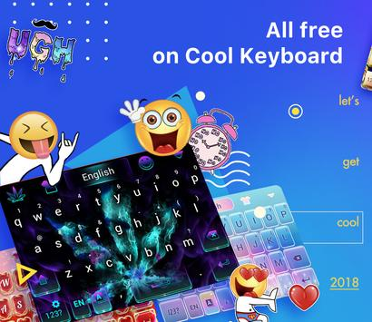Emoji Keyboard-Cool Keyboard, Emoticon , GIFs screenshot 1