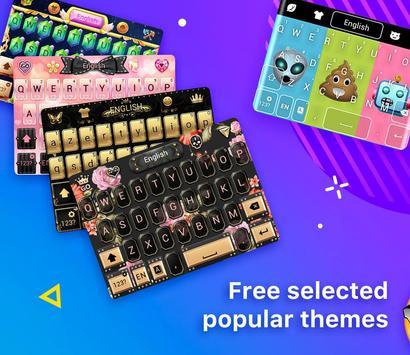 Emoji Keyboard-Cool Keyboard, Emoticon , GIFs screenshot 2