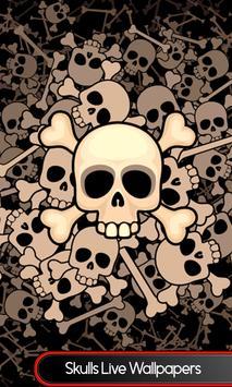 Skulls Live Wallpapers poster