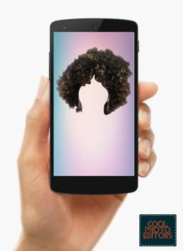 Curly Hair Styler Photo Editor App poster