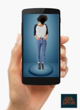 Jeans Top Girl Photo Maker Montage screenshot 4