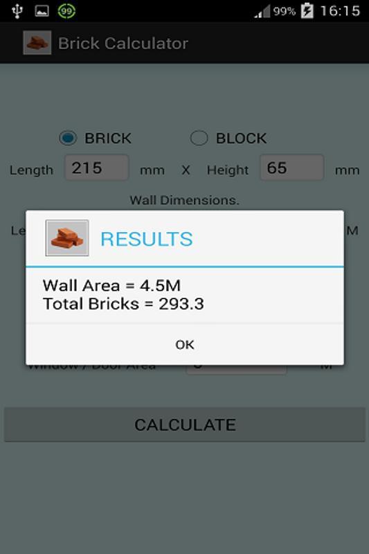 Brick and block calculator youtube.