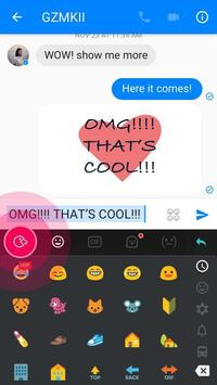 Love TouchPal Boomtext - Creat GIF apk screenshot