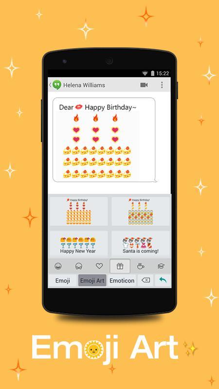 Farbe Emoji Tastatur Plakat Screenshot 1