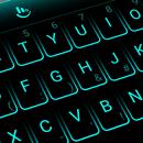شكل لوحة المفاتيح أزرق نيون APK