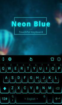 شكل لوحة المفاتيح أزرق نيون تصوير الشاشة 1