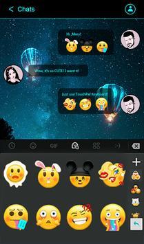 شكل لوحة المفاتيح أزرق نيون تصوير الشاشة 3